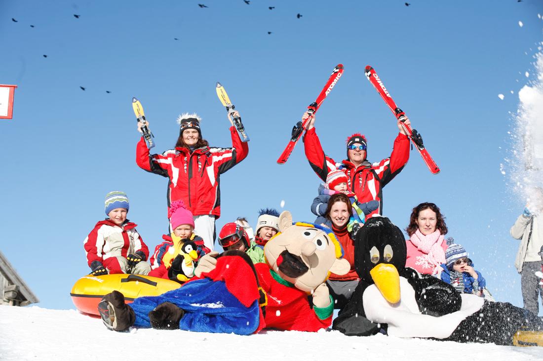 scuola di sci a Nassfeld passo pramollo in Carinzia