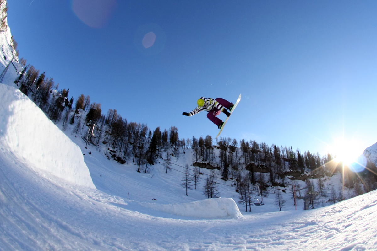 Snowboarden am Nassfeld