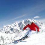 skiing at Nassfeld in Carinthia