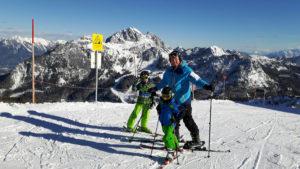 Schi fahren am Nassfeld