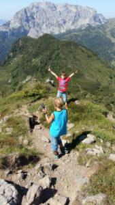 Auernig Steig bergab am Nassfeld