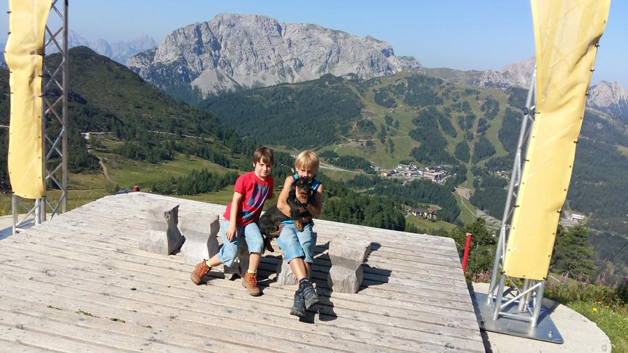 Fotopoint an der Bergstation Gartnerkofel am Nassfeld