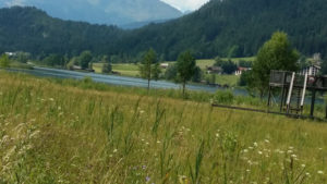 Aussichtspunkt am Wanderweg Weissensee Ostufer