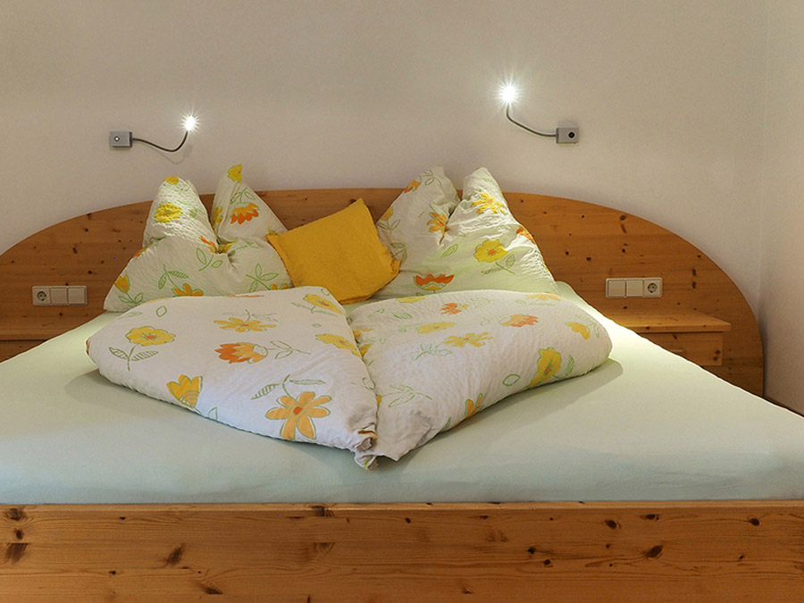camera da letto dell'appartamento Enzian