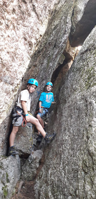 Cave outdoor climbing park Tressdorfer Alm Nassfeld