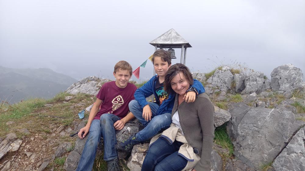 Gipfelfoto am Malurch